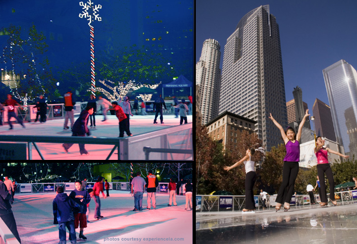 los angeles pershing square ice skating season. Black Bedroom Furniture Sets. Home Design Ideas